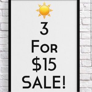 Other - 3 for $15.00 with 💛